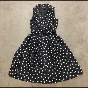 Retro 50's style Black & White Polka dot dress, 12
